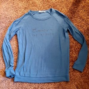 Workshop republic clothing blue sweatshirt top